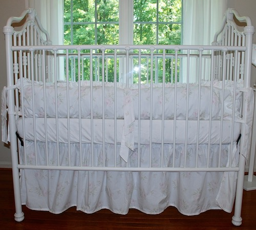 Shabby Sweet Pink Cabbage Rose Crib Bedding