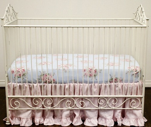 Crib Sheet -  Shabby Sweet Bella Rose Blossom