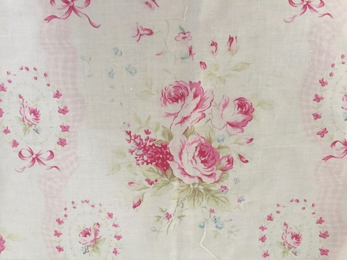Crib Bedding Set - Shabby Pink Sweet Sue Floral and  Gingham Crib Bedding