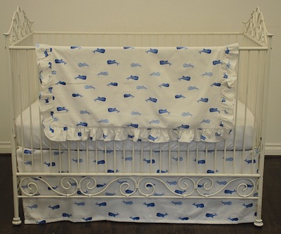 Whale of a Tale Tailored Crib Skirt